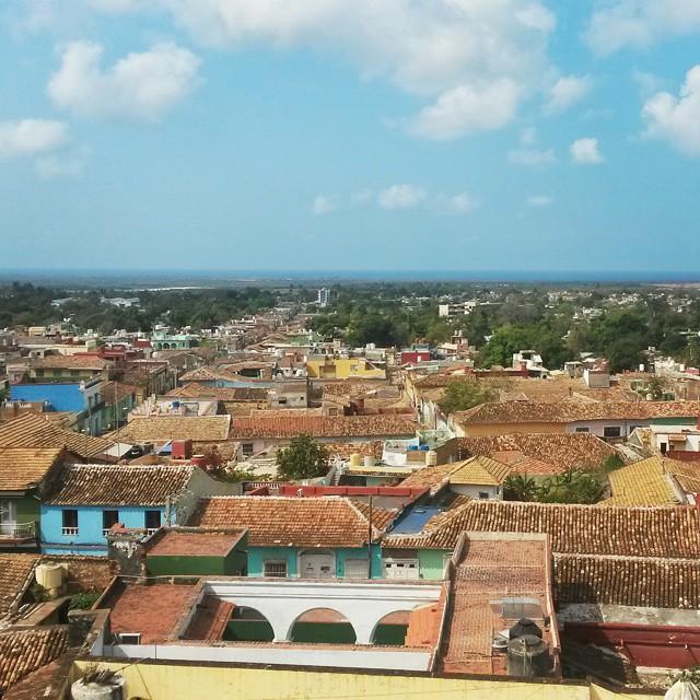 näkymä Trinidadin yli, Kuuba
