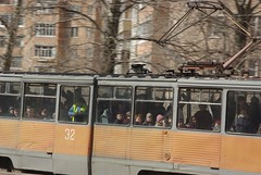 Ryazan tram crowd