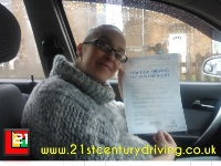Sara Taylor passes her driving test in grimsby with 21st Century Driving