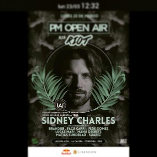 Sidney Charles #facucarri  @fedegomez80s   PM OPEN AIR  Lunes 23 18 hs