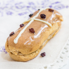 Hot Cross Bun Eclairs