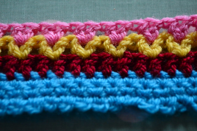Treble crochet row 4