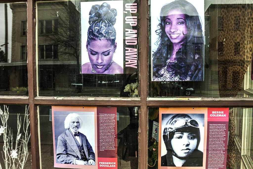 Frederick-Douglass-and-Bessie-Coleman-in-salon's-windows--Carlisle