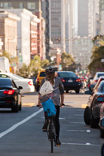22589 Southbound Polk St. bike lane from Pine to Bush