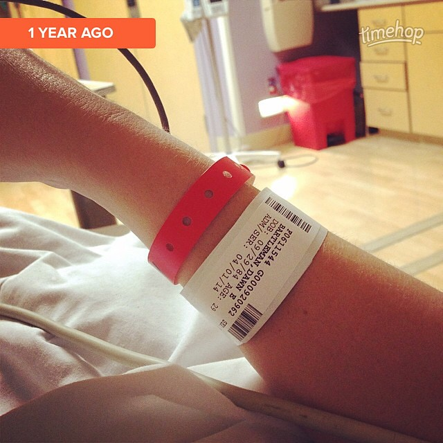 Admitted. Waiting for my little April Fooler one year ago. Can't believe it's been a year already. #timehop by bartlewife