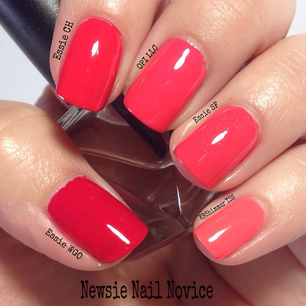 Coral Polish Comparison Showdown | Newsie Nail Novice