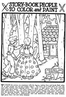 Hansel and Grethel coloring page