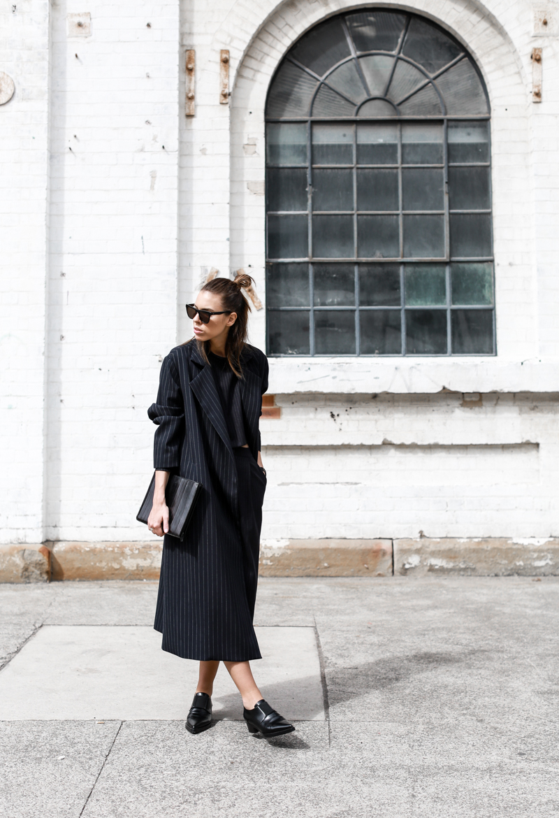 modern legacy, street style, pinstripe, coat, fashion week, fashion blogger (1 of 1)