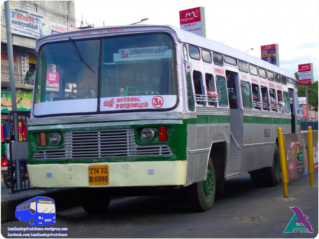 TN-72B-6996 of MGG Route 3A NellaiTown to HighGround via Nellai Junction, Vanarpettai, Palai Market, Samathanapuram.