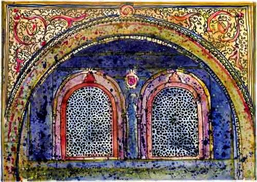 mezquita windows   córdoba cathedral