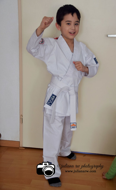 In Karate Samurai uniform