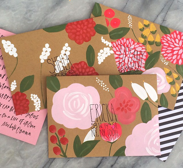 April Inspiration Mail_Hand-Painted Envelopes