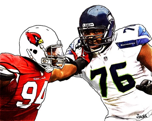 Seattle Seahawks  Russell Okung - Arizona Cardinals  Sam Acho