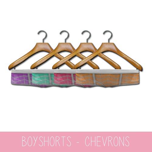 {MYNX} Boyshorts Pack - Chevron