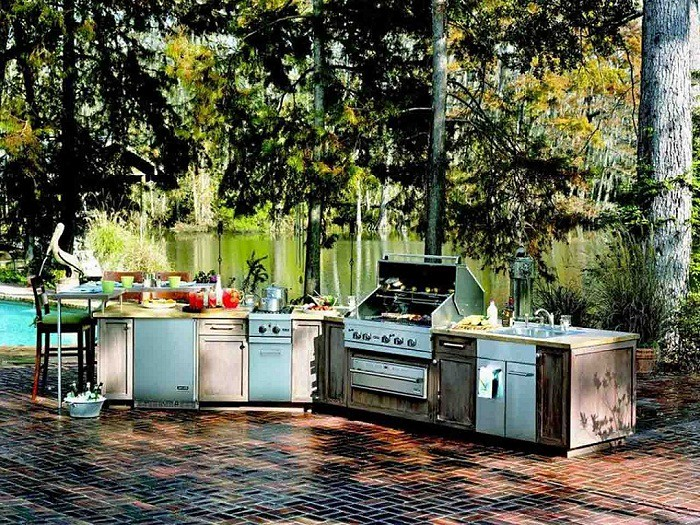 Rustic Outdoor Kitchen Ideas | via Rhinway.com ift.tt/1HFGUW ...
