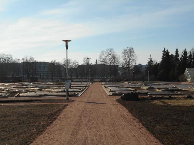 Helsingin Kaisaniemen kasvitieteellisen puutarhan remontti - Tilannetta 19.3.2015 D