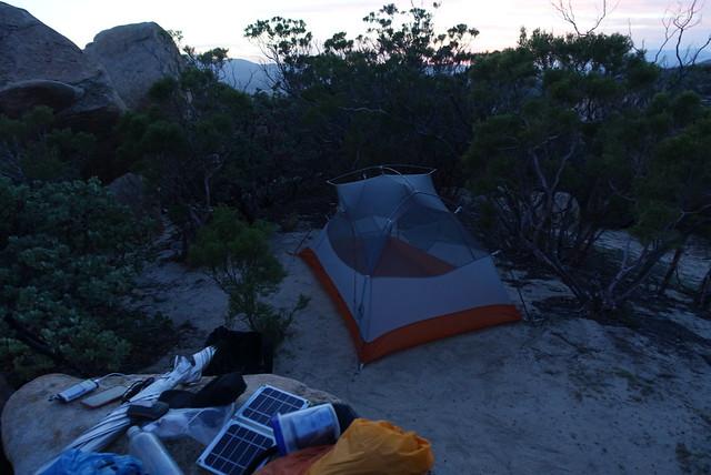 PCT Day 8 campsite