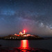 Nubble Lighthouse Milky Way Panorama by Mike Ver Sprill - Milky Way Mike