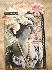 Lady with a Butterfly Hat ATC