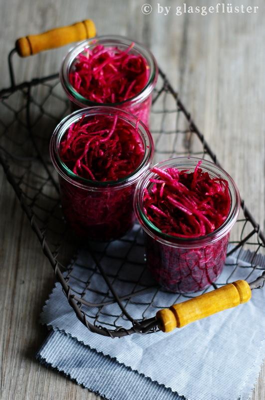 Rote Bete Salat eingeweckt by Glasgeflüster 2 klein
