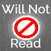 Will Not Read Icon