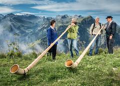 Alpský roh je typickým nástrojem ve Švýcarsku