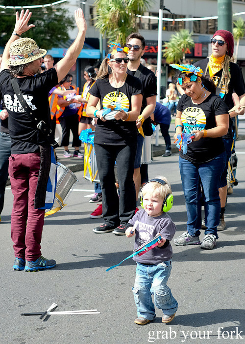 Cutest batucada recruit at the Cuba Dupa Festival 2015, Wellington