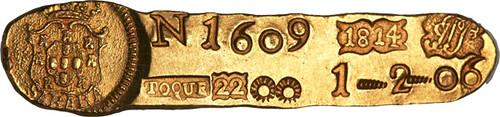 Lot 29419 Brazilian gold ingot 1814