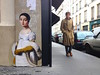 Museum paintings pasted onto city streets