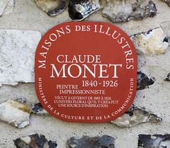 Photo of Claude Monet red plaque