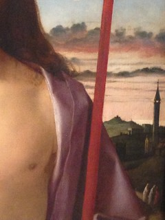 Giovanni Bellini: Christ Blessing (Detail) (1500)