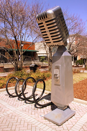 Music City's Microphone Bike Rack