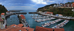 Panorámica del puerto de Mutriku (Gipuzkoa, Euskadi)