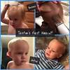 Look who got his first haircut tonight!! :sob: Getting so big! #theschultes