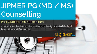 JIPMER PG (MD / MS) Counselling 2016