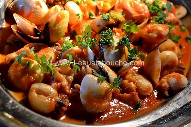 Soupions et Coquillages à la Sauce Piquante  © Ana Luthi Tous droits réservés 003