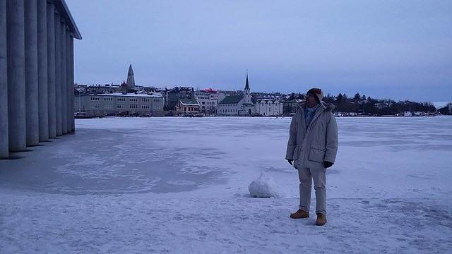 Frozen lake in Reykjavik, Iceland!