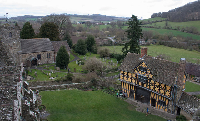Stokesay Castle from tower