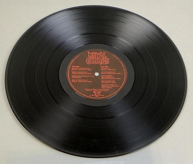 "METAL CHURCH SELF-TITLED DEBUT ALBUM BANZAI CANADA 12"" LP"