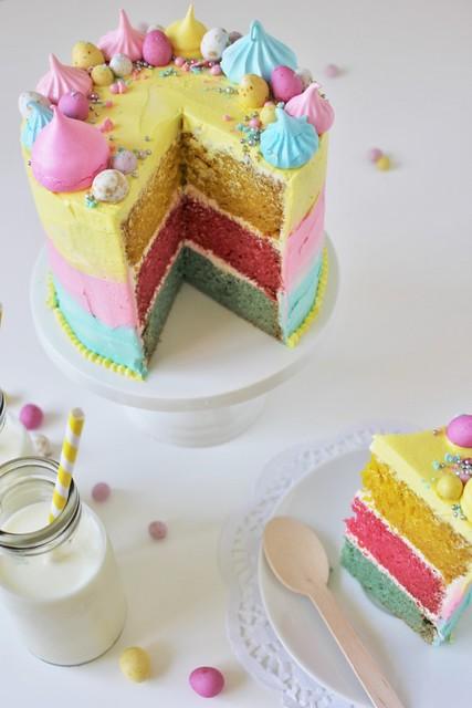 Gluten Free Vanilla Easter Cake