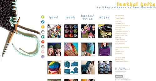 leethalknits.com 2015 minor redesign