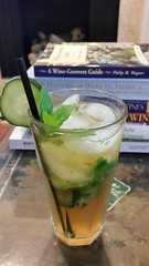 First Pimm's Cup (deluxe version) of the season! Pimm's No. 1, muddled mint and cucumber, lemon and lime juice, Dry Curaçao, and ginger beer. Perfect for a spring Saturday!