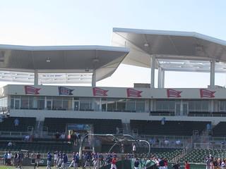 Championship Pennants at JetBlue Park -- Ft. Myers, FL, March 16, 2015