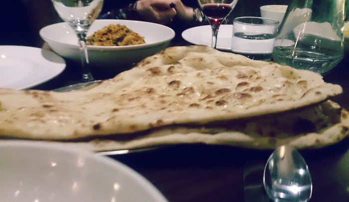 assams garlic naan bread