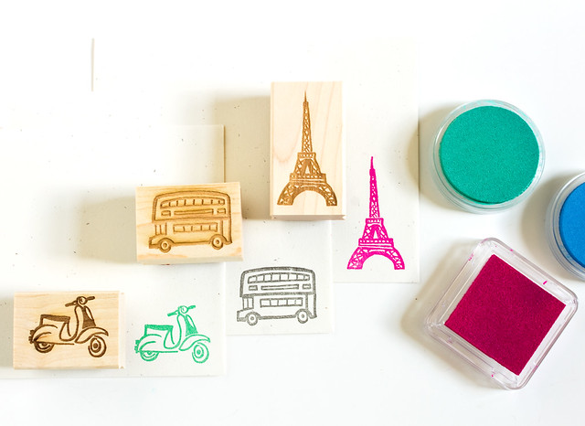 New travel theme rubber stamps by Vitamini