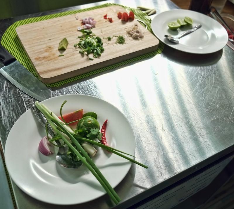 Spicy Beef Salad Prep