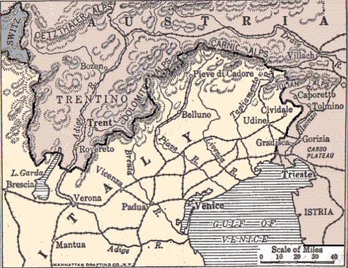 Austro-Italian border area, 1914