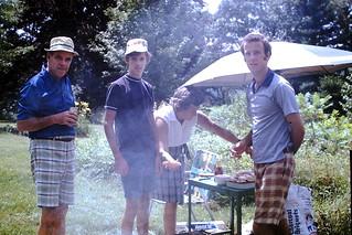 Vintage Found Photo - Backyard Barbecue
