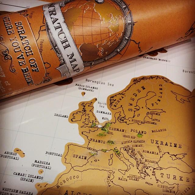 Nieuw speelgoed. Al geraken we voorlopig niet verder dan West-Europa.  #scratchmap