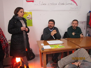 Da sinistra Sara Coppi, Nico Catalano e Carlo Mininni